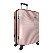 Mala de Viagem Grande em ABS Rosa c/Carrinho 360º YS2039Ro-G - Yins
