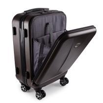 Mala de Viagem Pequena Bordo Executiva para Notebook Entrada USB ABS IKA Premium Cadeado TSA Cobre -