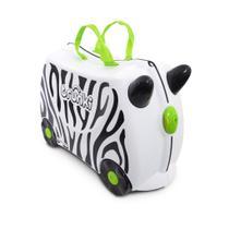Mala Infantil Trunki - Zebra Zimba - Sua viagem muito mais divertida - cor Branco -