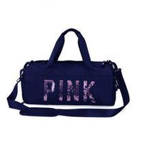 Mala Pink Academia Bolsa Feminina Fitness Transversal Casual - Bless Star