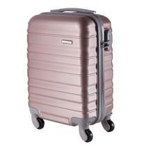 Malas de Bordo Pequena para Viagem em ABS Yins 21026 Rodinhas Removíveis Cadeado Integrado Rosê -