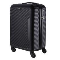 Malas de Bordo Pequena para Viagem em ABS Yins 21027 Cadeado Integrado Preta -