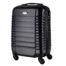 Malas de Bordo Pequena para Viagem em ABS Yins 21046 Cadeado Integrado Rodas 360º Preta -