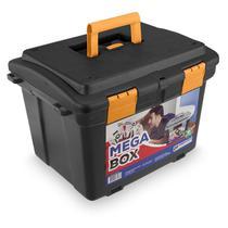 Maleta caixa organizadora para ferramentas porta treco grande com trava na tampa mega box - Arqplast