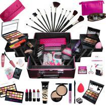 Maleta Com Maquiagem Completa Profissional Ruby Rose + Necessaire - BZ02 - Bazarnaweb