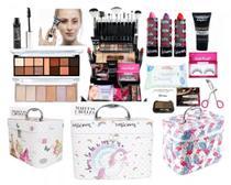 Maleta Com Maquiagem Profissional Completa Ruby Rose M66 -