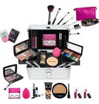 Maleta com Maquiagens Base Ruby Rose + Necessaire BZ21 - Bazar Na Web