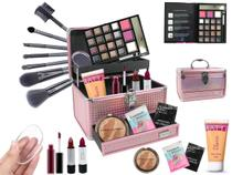 Maleta Completa Com Maquiagem Ruby Rose Luisance + Brinde - Bazar Web
