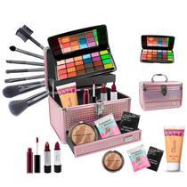 Maleta Completa com Maquiagem Ruby Rose Luisance + Brinde - BZ12-1 - Bazar Na Web