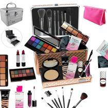 Maleta Completa com Maquiagem Ruby Rose Luisance + Cortesia da Loja - BZ19 - Bazar Na Web