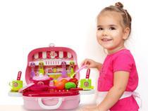 Maleta cozinha frutas e legumes infantil rosa - mc18242rs - Mega Compras