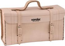 Maleta de couro 400x140x210cm marrom natural - Vonder -