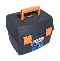 Maleta de ferramenta newbox 2030 preta/laranja 33,5x33x26,5cm 25460 arqplast -