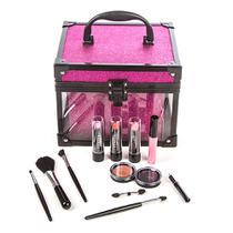 Maleta de Maquiagem Clear Pink Fenzza -