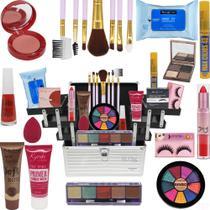 Maleta De Maquiagem Com Kit Maquiagem  Ruby Rose - Glow Pink