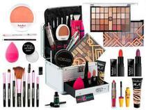 Maleta De Maquiagem Completa 32 Sombras Ruby Rose Mais Blush -