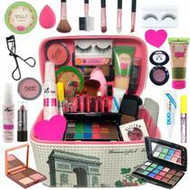 Maleta De Maquiagem Completa Base Dalla Vegana Kit Pinceis - Dalla Makeup