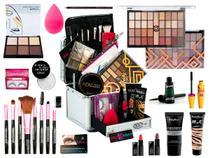 Maleta De Maquiagem Completa Com 32 Sombras Ruby Rose -