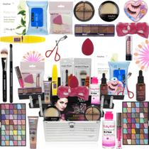 Maleta De Maquiagem Completa Com Kit Maquiagem Ruby Rose Top - Glow Pink