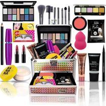Maleta De Maquiagem Completa Muitos Itens Bz69-4 - Bazar Na Web