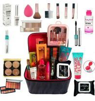 Maleta De Maquiagem Completa Profissional Completa C/ Pinceis Base e  Sombra - Maleta Ruby Rose
