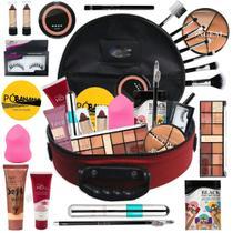 Maleta De Maquiagem Completa Profissional Ruby Rose BZ69-2 - Bazar Na Web