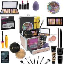 Maleta De Maquiagem Completa Profissional Ruby Rose Ultra - Bazar Na Web