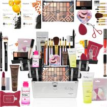 Maleta De Maquiagem Completa Ruby Rose Com Kit Pinceis - Glow Pink
