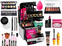 Maleta De Maquiagem Completa Ruby Rose Essencial -