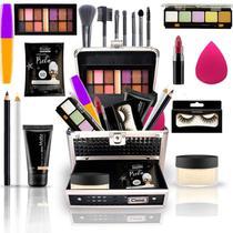 Maleta De Maquiagem Completa Ruby Rose Super Completa Bz67-4 - Bazar Na Web