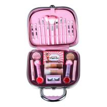Maleta de maquiagem Fenzza FZ40003 Make Up Rosa -