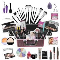 Maleta de Maquiagem Grande completa Ruby Rose Lançamento BZ74 - Bazar Na Web