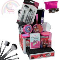 Maleta de maquiagem + kit maquiagem infantil BZ33 - Bzmake