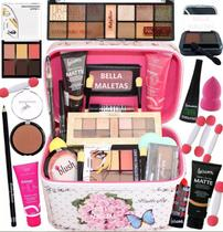 Maleta De Maquiagem Kit Maquiagem Top Profissional Luxo -