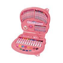 Maleta De Pintura Hello Kitty Infantil 70 Itens-Molin 21637 -