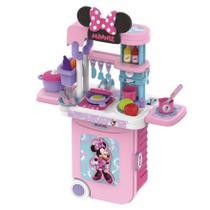 Maleta de Viagem - Play Set - Minnie Cozinha 3 em 1 - Rosa e Rosa Escuro MULTILASER -