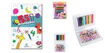 Maleta escolar glam girls + livro 501 atividade - Barô