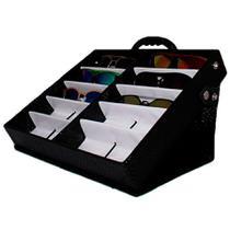 Maleta Expositora com Alça e Suporte para 10 Óculos MS210C Zoke -