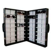 Maleta Expositora com Alça para 32 Óculos MS32C Preta Zoke -