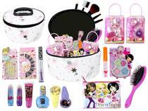Maleta  frasqueira de Maquiagem Infantil Pinceis e Sombra BZ104 - Bazar Web