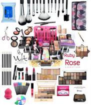 Maleta Grande Com Maquiagem Completa Vult Ruby Rose V1 .1 - Vult Comesticos