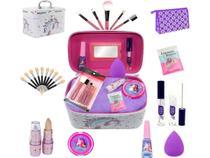 Maleta Infantil + Kit Maquiagens E Itens De Beleza + Brindes - Bazar Web