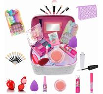 Maleta Infantil + Kit maquiagens e itens de beleza BZ40 - Bazar Na Web