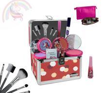 Maleta Infantil Maquiagem Completa Muitos Itens + Brinde - Bazar Na Web