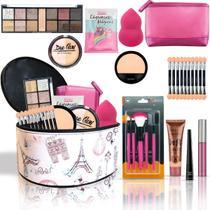 Maleta + Kit com maquiagens Belle Angel muitos Itens BZ50 - Bazar Na Web