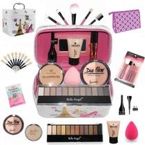 Maleta + Kit com maquiagens Belle Angel muitos Itens BZ50 - Bazarnaweb