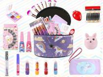 Maleta Kit De Maquiagem Completo Infantil Pinceis Sereia - Bazar Na Web