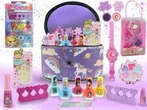 Maleta Kit De Maquiagem Infantil Itens Beleza Completo Bz93 - Bazar Na Web