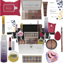 Maleta Kit Maquiagem Completo Ruby Rose Skin e Outras Marcas - Glow Pink