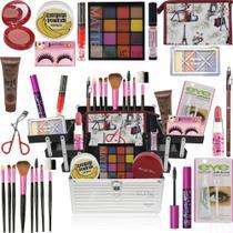 Maleta Kit Maquiagem Completo Ruby Rose Top Glow - Glow Pink